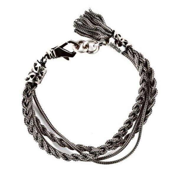 Four chain silver bracelet