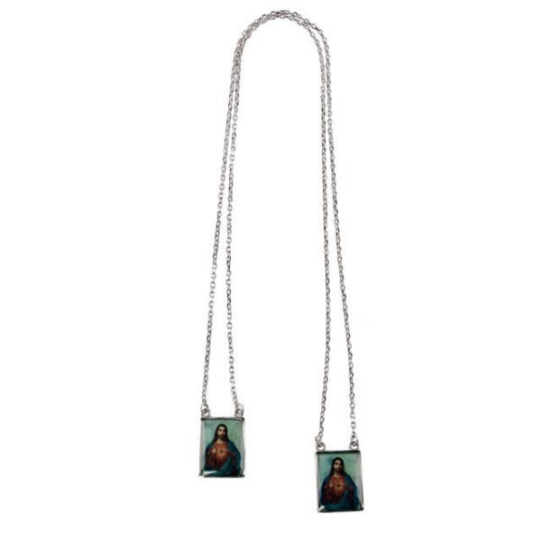 Jesus picture silver scapular