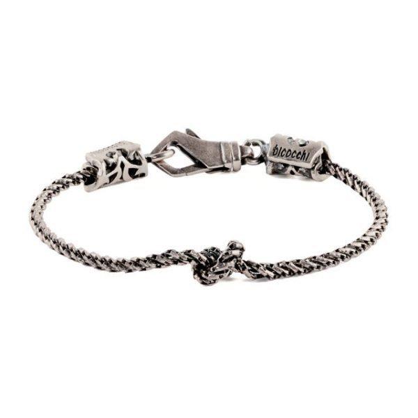 Knot silver bracelet