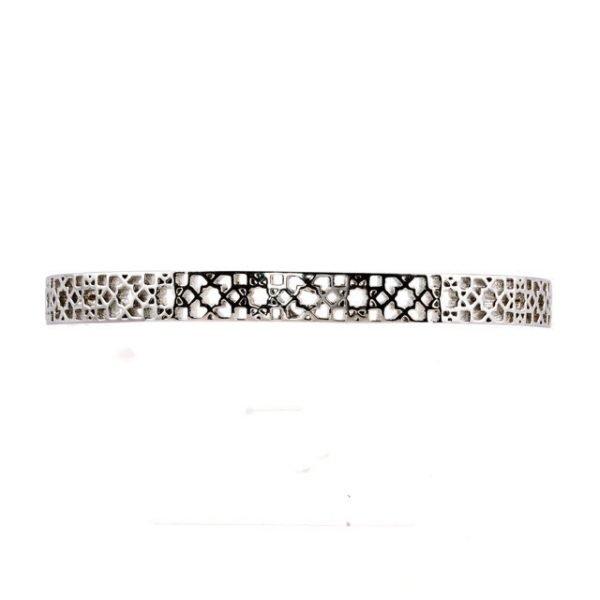 Mosaic silver cuff
