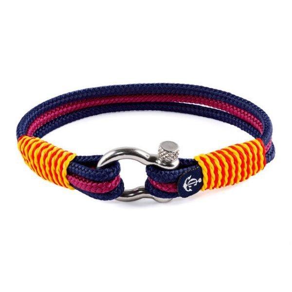 Nautical burgandy bracelet