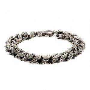 Spikes silver bracelet