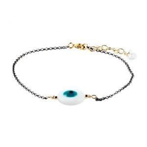 Evil Eye Black Thin Bracelet