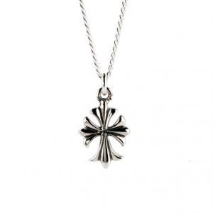 Small Cross Silver Necklace