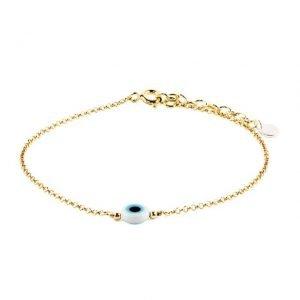 Small Evil Eye Golden Thin Bracelet