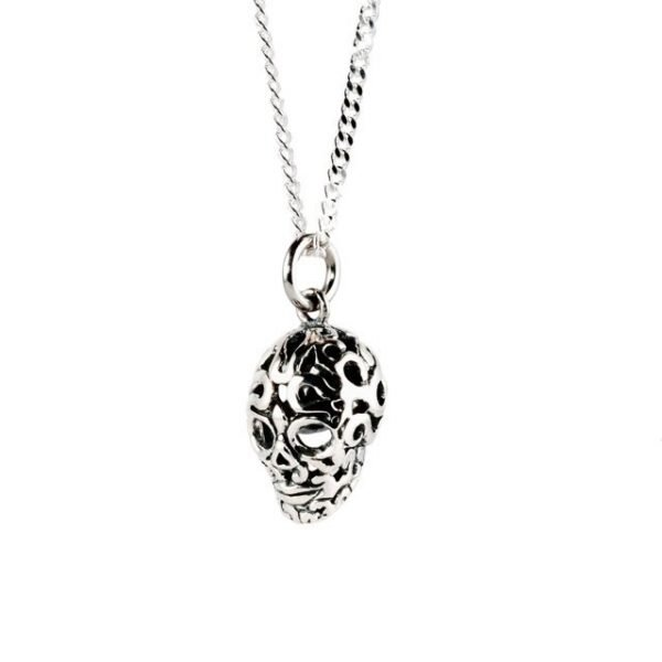 Small Silver Skull Necklace