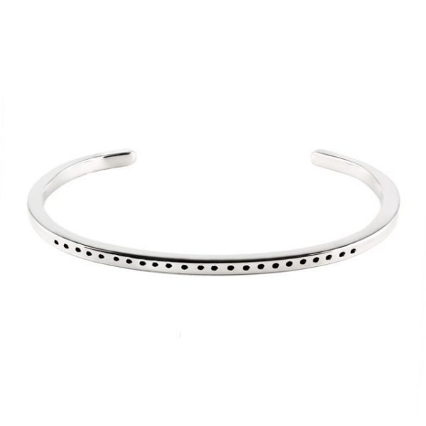 Thin Silver Cuff With Dots
