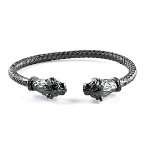 Flexible Silver Lion Cuff