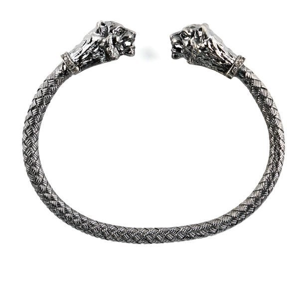 Flexible Silver Lion Cuff