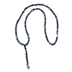 Beads necklace Rosario Blue Sodalite