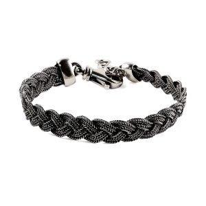 Braded Silver Chain Bracelet