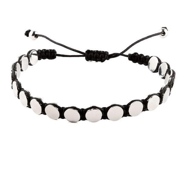 Large silver circles Adjustable Bracelet