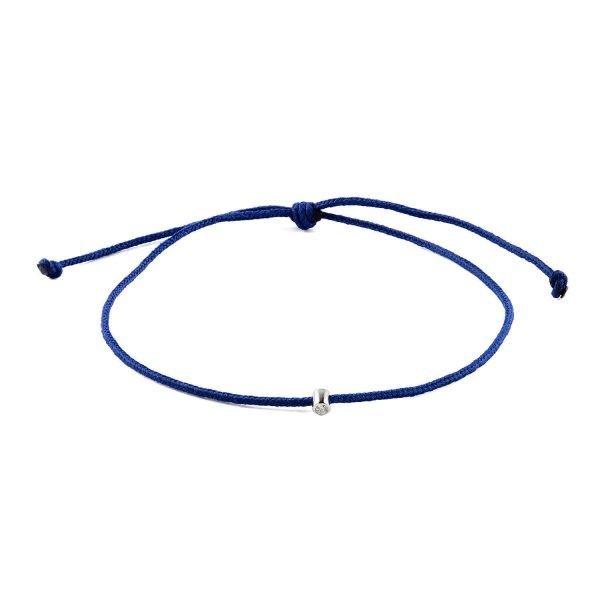 Small Diamond Blue Adjustable Bracelet