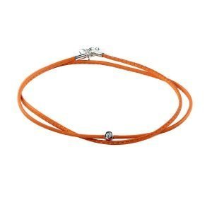 Small Diamond Orange Double Wrap Bracelet