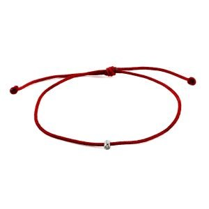 Small Diamond Red Adjustable Bracelet