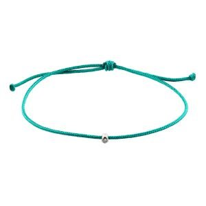 Small Diamond Turquoise Adjustable Bracelet