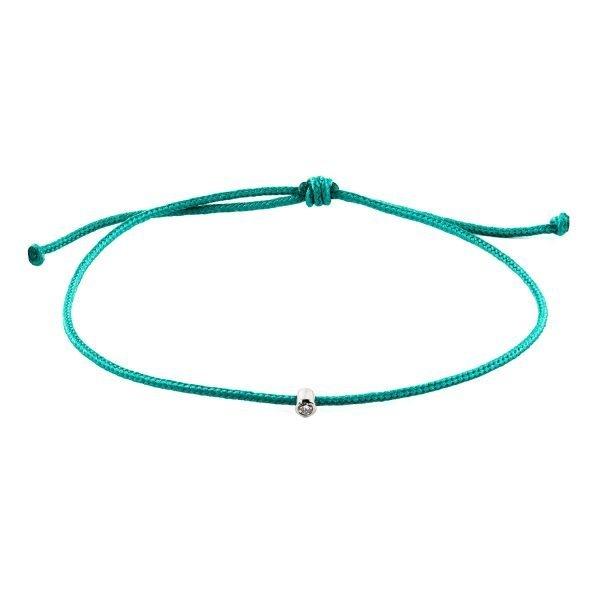 Small Diamond Turquoise Adjustable Bracelet