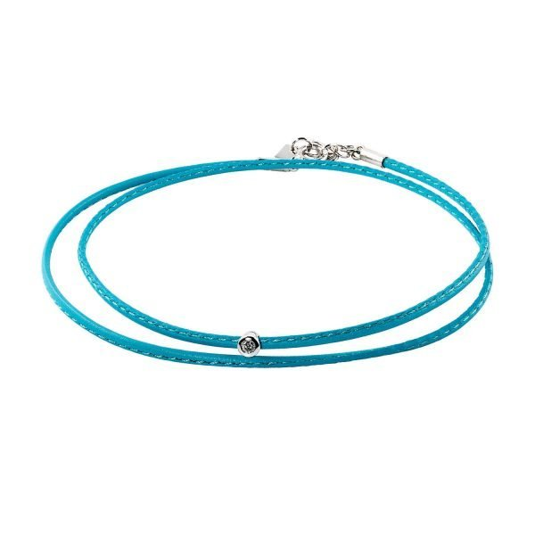 Small Diamond Turquoise Double Wrap Bracelet