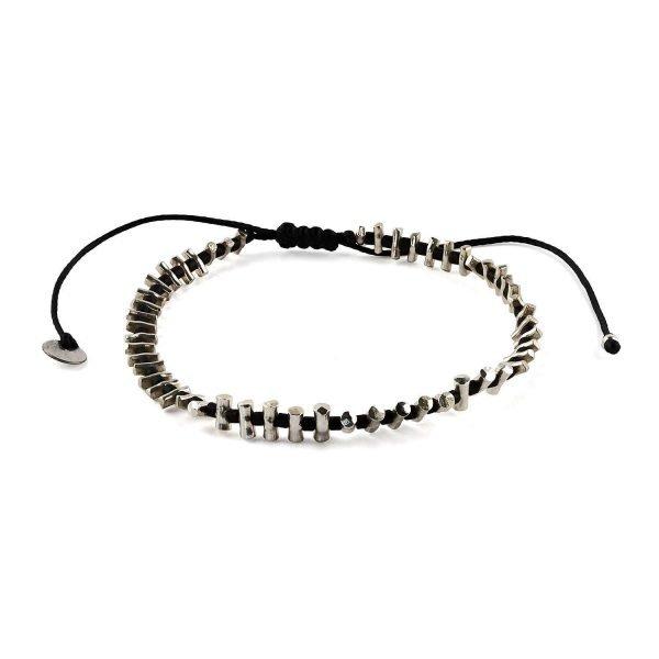 Small silver bars Adjustable Bracelet