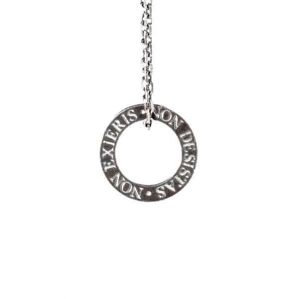 Latin Quote Silver Necklace