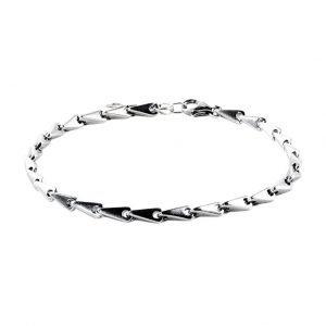 Medium Silver Complex Chain Bracelet