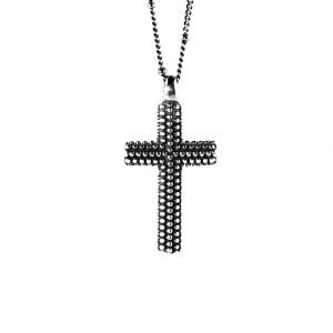 Medium Silver Cross Necklace