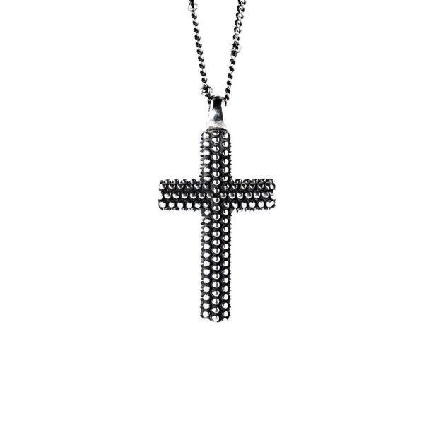 Medium Silver Cross Necklace