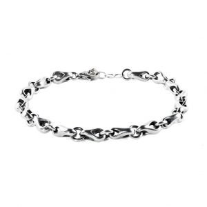 Silver Complex Chain Bracelet