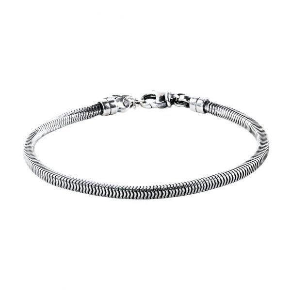 Thin Silver Snake Chain Bracelet